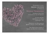 Script Heart Chalkboard Invitation