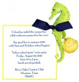 Sea Foam Sea Horse Invitation