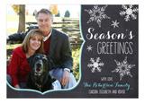 Seasons Greetings Snowflakes Photo Card