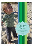 Shades of Green Stripes  Photo Card