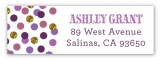 Shades of Radiant Orchid Confetti Address Label