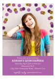 Shades of Radiant Orchid Confetti Photo Card