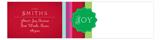 Shades of the Season Stripes  Envelope Wrap Address Label