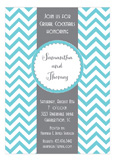Shower Seal with Chevron Invitation