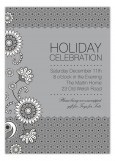 Silver Lace and Floral Invitation