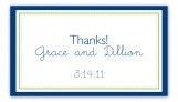 Simply Navy Border Calling Card