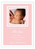 Simply Sweet Pink Borders Photo Card