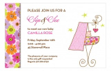 Sip and See Baby Girl Invitation