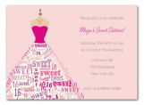 Sixteen Dress Form Invitation
