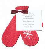 Red Mittens Invitation