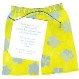 Swim Trunks Pool Party Invitations