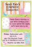 Sarah Kates Surprise Sleepover Slumber Party Invitation