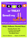 Smell My Feet Witch Halloween Invitations