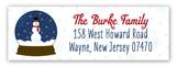 Snow Globe Fun Address Label