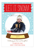 Snow Globe Photo Card