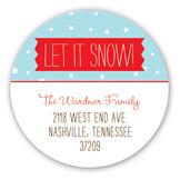 Snow Globe Round Sticker