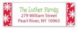 Snow Stripes Traditional Address Label