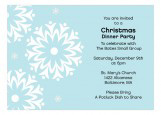 Snowfall Christmas Dinner Party Invitations