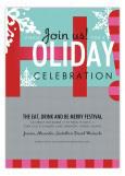 Snowy Celebration Invitation