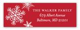 Snowy Christmas Address Label