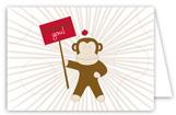 Sock Monkey Folded Note Card