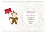 Sock Monkey Invitation