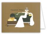 Sofa Glamour Girl Bridal Shower Thank You Card