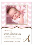 Soft Pink Chevron Photo Card
