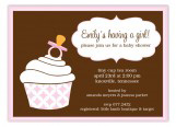 Soft Pink Cupcake Invitation