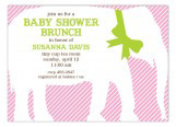 Soft Pink Elephant Invitation