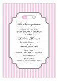 Soft Pink Safety Pin Invitation