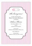 Soft Pink Safety Pin Invitation