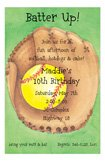 Green Softball Baseball Party Invitations
