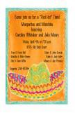Teal and Orange Sombrero Invitation