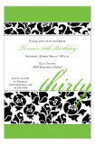 Sophisticated Thirty Invitation