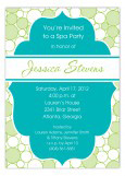 Spa Bubbles Invitation