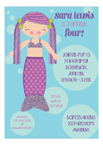 Sparkling Mermaid Party Invitations