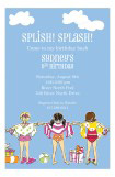 Splish Splash Girls Invitation