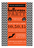 Spooky Chevron Invitation