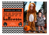 Spooky Chevron Photo Card