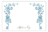 Spring Garden Blue Flat Note Card