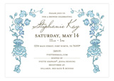 Spring Garden Blue Invitation