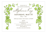 Spring Garden Green Invitation