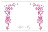 Spring Garden Pink Flat Note Card