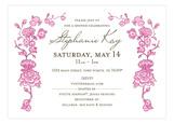 Spring Garden Pink Invitation