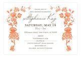 Spring Garden Tangerine Invitation