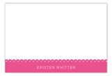 Spring Scalloped Pink Flat Note Card