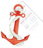 Anchors Aweigh Nautical Party Invitation