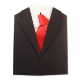 Shirt & Tie Invitation Black