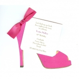 High Heel (Hot Pink) Invitation
